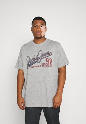 JJ30JONES SLUB TEE CREW NECK - Print T-shirt - cool grey