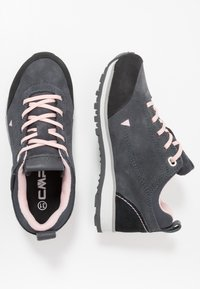 CMP - KIDS ELETTRA LOW SHOES WP - Hiking shoes - antracite/pastel pink - 0