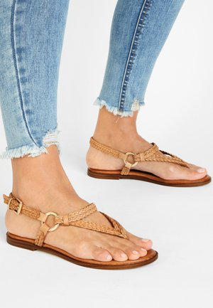 T-bar sandals - light brown