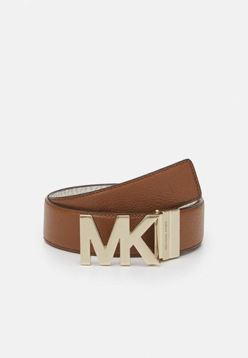 PEBBLE TO LOGO ON PLAQ - Belt - luggage/gold-coloured