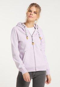 Schmuddelwedda - Zip-up sweatshirt - rauchlila melange - 0