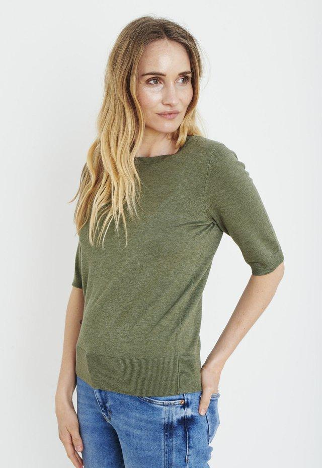 PXSARA - T-shirt print - olivine
