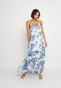 Vila - VIVIOLA STRAP DRESS - Day dress - cloud dancer/blue - 0