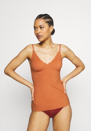 DAMEN SPAGHETTI - Undershirt - burnt orange