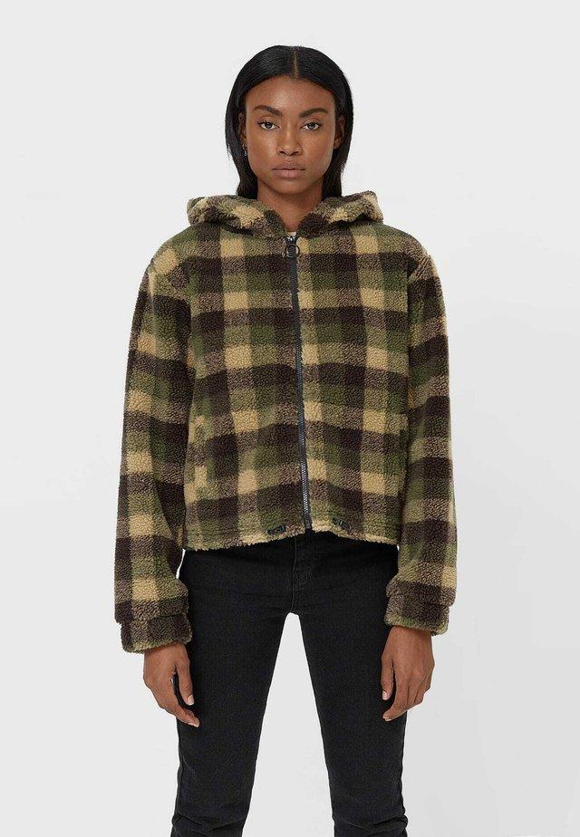 Fleecová bunda - khaki
