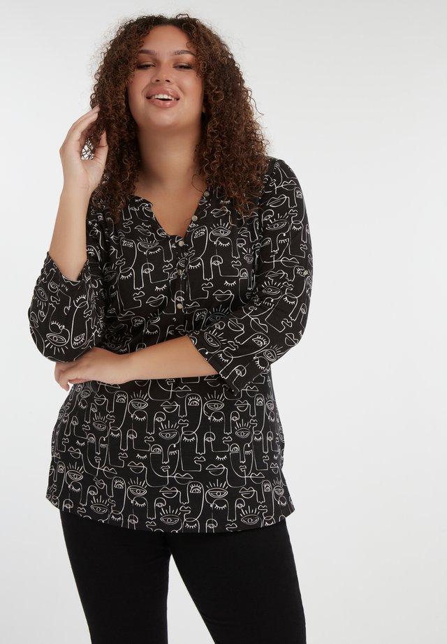 MS MODE - Blouse - multi black-white