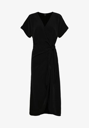 ENLIE WRAP DRESS - Denní šaty - black