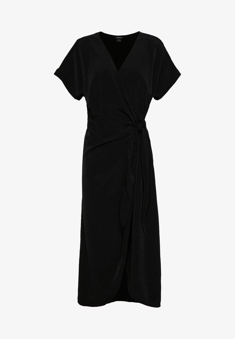 Monki - ENLIE WRAP DRESS - Kjole - black
