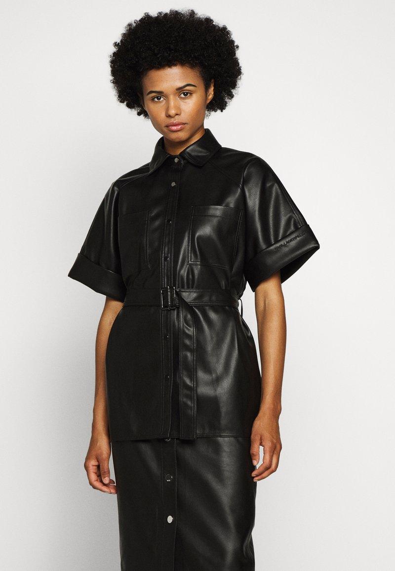 KARL LAGERFELD - CARGO - Button-down blouse - black