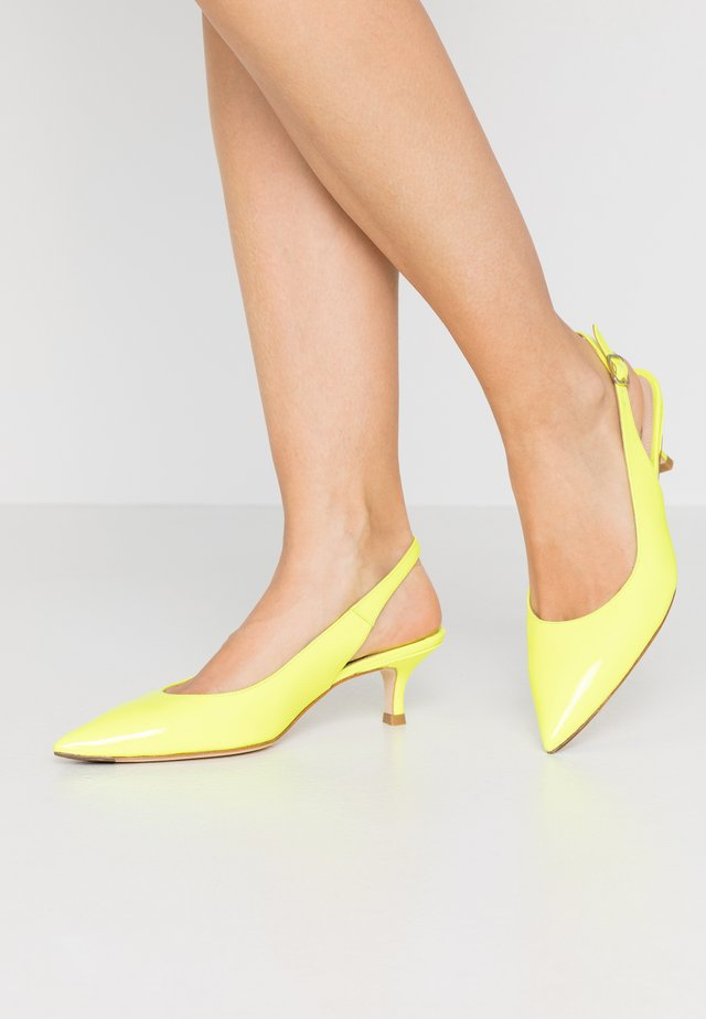 Klassiske pumps - fluor yellow