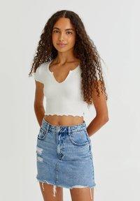 PULL&BEAR - 2 PACK - T-shirt basic - white - 2