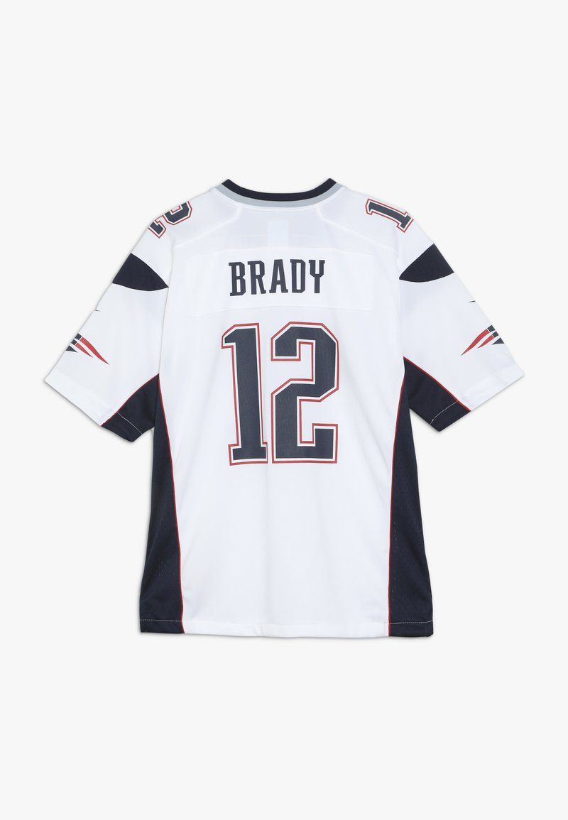 Usual Clasificar Prisión  Nike Performance NFL NEW ENGLAND PATRIOTS BRADY - Camiseta estampada -  white/blanco - Zalando.es