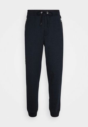 HORSE AND CARRIAGE TAPE - Tracksuit bottoms - navy