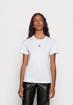 MICRO MONOGRAM  - T-shirt basic - bright white