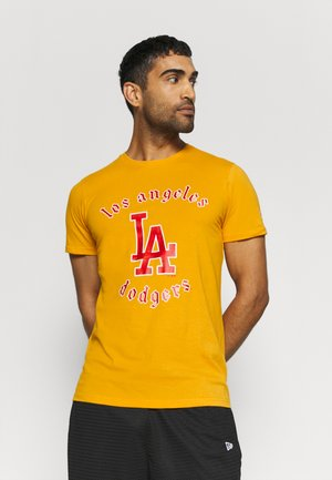 MLB LOS ANGELES DODGERS RETRO TEAM LOGO TEE - Triko s potiskem - orange