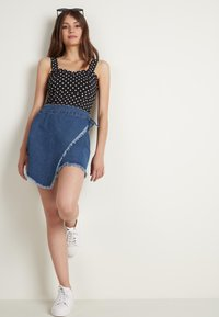 Tezenis - Wrap skirt - blu jeans - 1