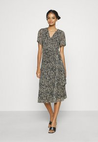 Soaked in Luxury - LOURDES WRAP DRESS - Day dress - beige - 1