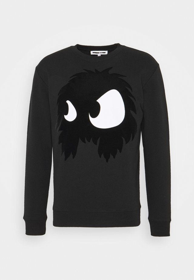 MONSTER PULLOVER - Felpa - darkest black