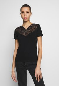 Anna Field - T-shirts med print - black - 0