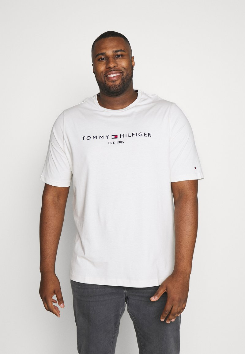 Tommy Hilfiger - LOGO TEE - T-shirt con stampa - white