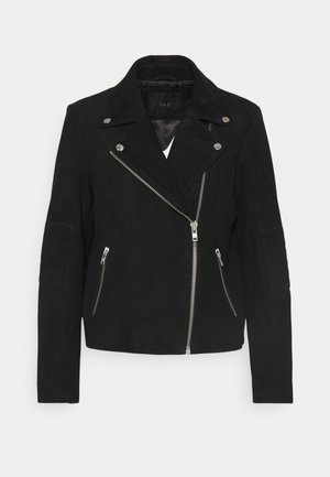 YASMOUSSE JACKET - Leather jacket - black
