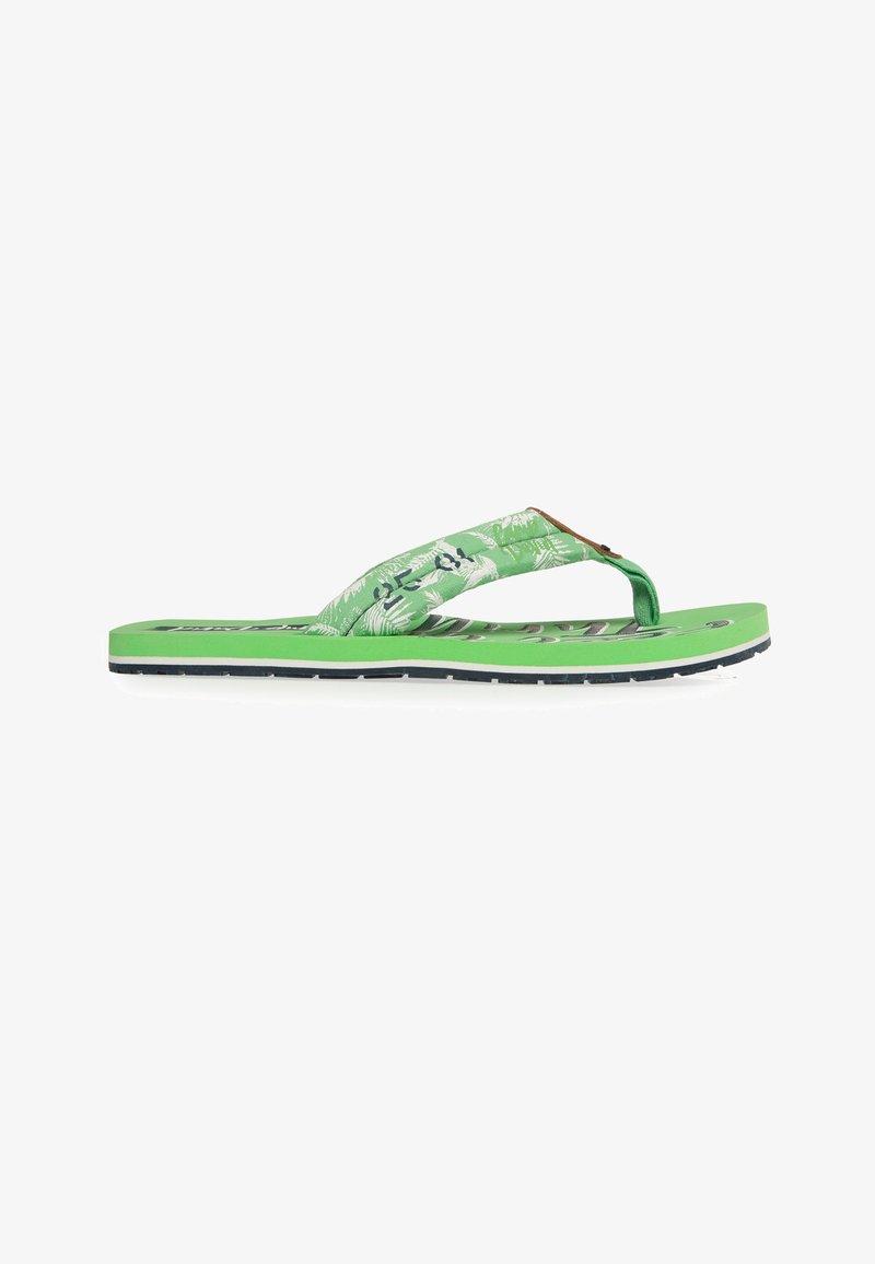 Camp David - MUSTERPRINT - T-bar sandals - kiwi green
