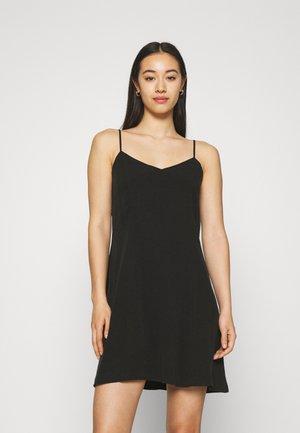 FAWN SLIP DRESS CHECK - Day dress - black