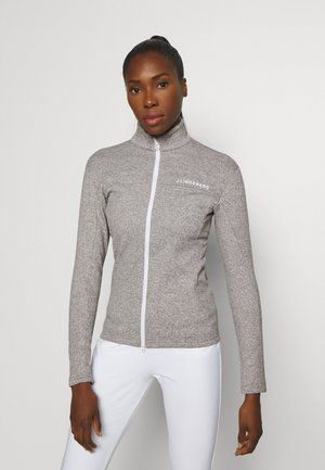 FLORA MID LAYER - Trainingsjacke - stone grey melange
