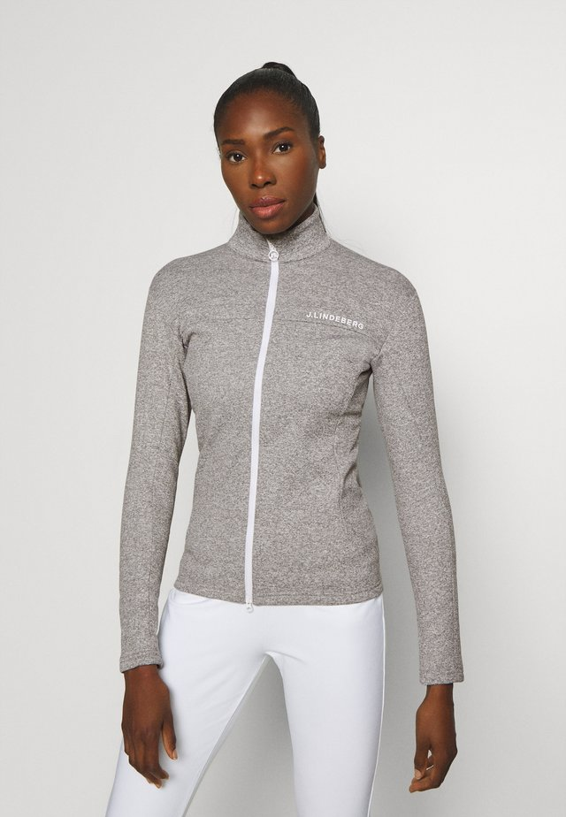 FLORA MID LAYER - Training jacket - stone grey melange