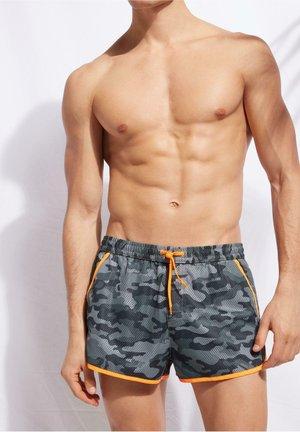 VENICE - Swimming shorts - camouflage shark grey