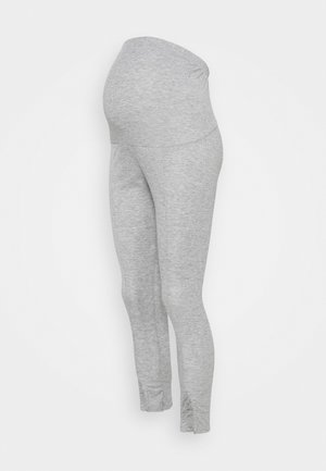 SPLIT FRONT - Leggings - Trousers - grey marl
