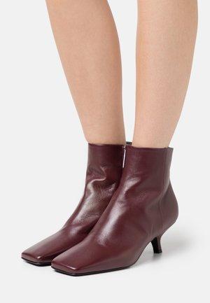HOLLY - Kotníkové boty - bordeaux