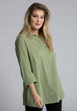 Button-down blouse - teichgrün