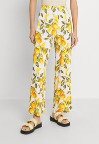 Never Fully Dressed - GROVE FREYA TROUSER - Trousers - white/yellow - 0
