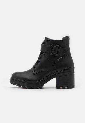 BOOTS - Lace-up ankle boots - black antic