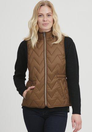 FRBAPADDING OUTERWEAR - Vest - gold brown