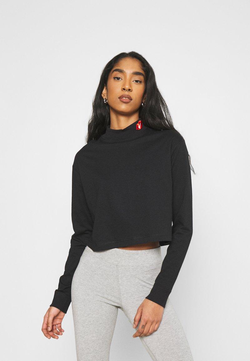 Nike Sportswear - TEE MOCK LOVE - Camiseta de manga larga - black