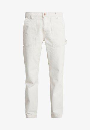 TWILL CONTRAST CARPENTER - Trousers - ecru
