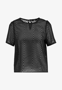 ONLLINA CROPPED - Print T-shirt - black