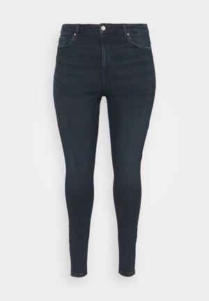 VMLOA - Jeans Skinny Fit - dark blue denim/black wash