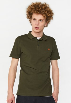 WE FASHION HERREN-PIQUÉ-POLOSHIRT AUS BIO-BAUMWOLLE - Polo - army green