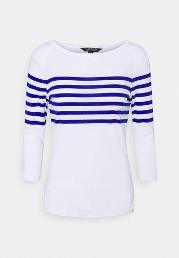 HALIAN SLEEVE - T-shirt à manches longues - white/ sapphire star