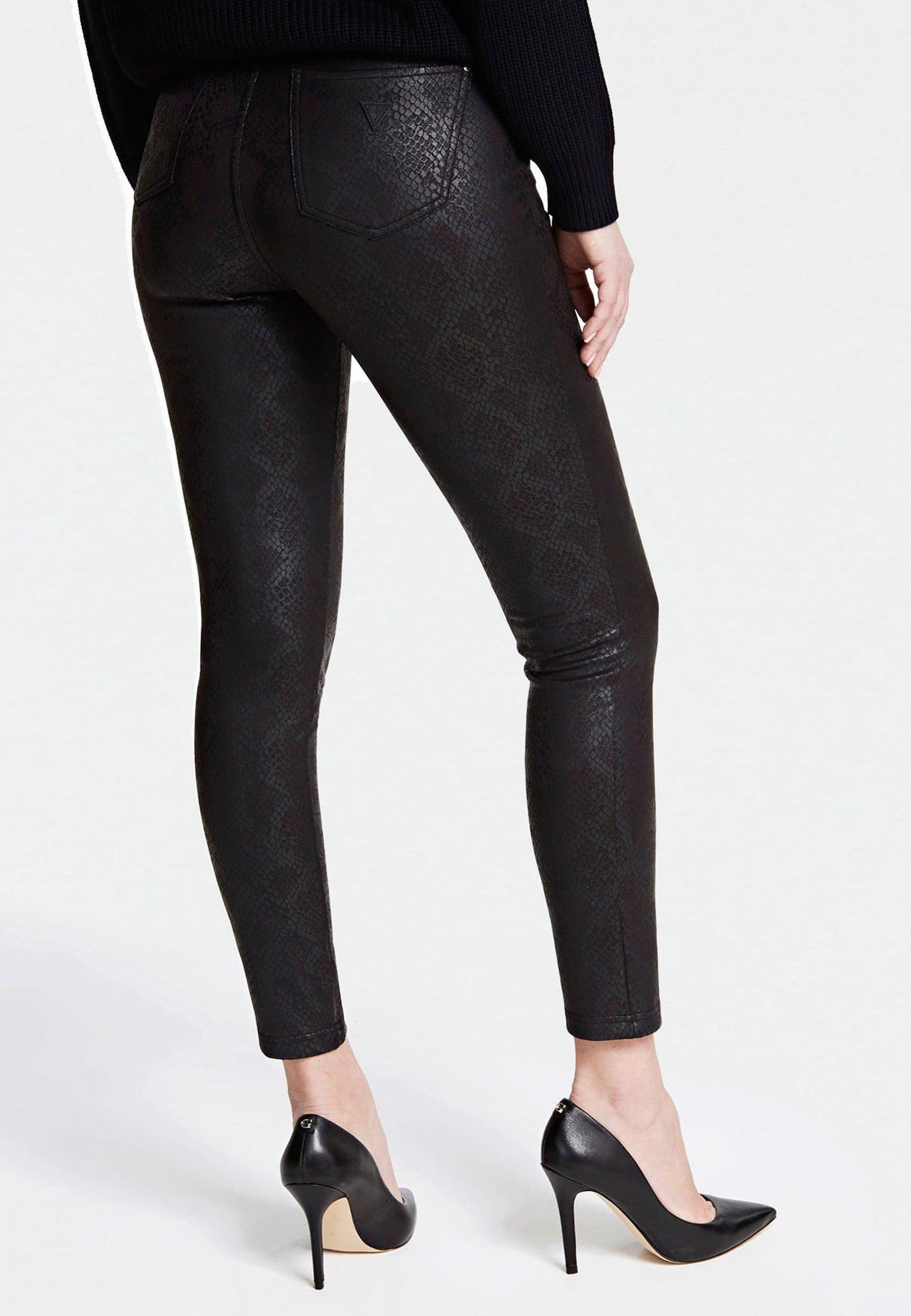 Guess HOSE PYTHON-OPTIK - Jeans Skinny - mehrfarbig schwarz - Jeans Femme f1Vru