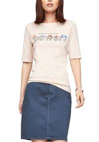 s.Oliver - Print T-shirt - light blush power print - 4