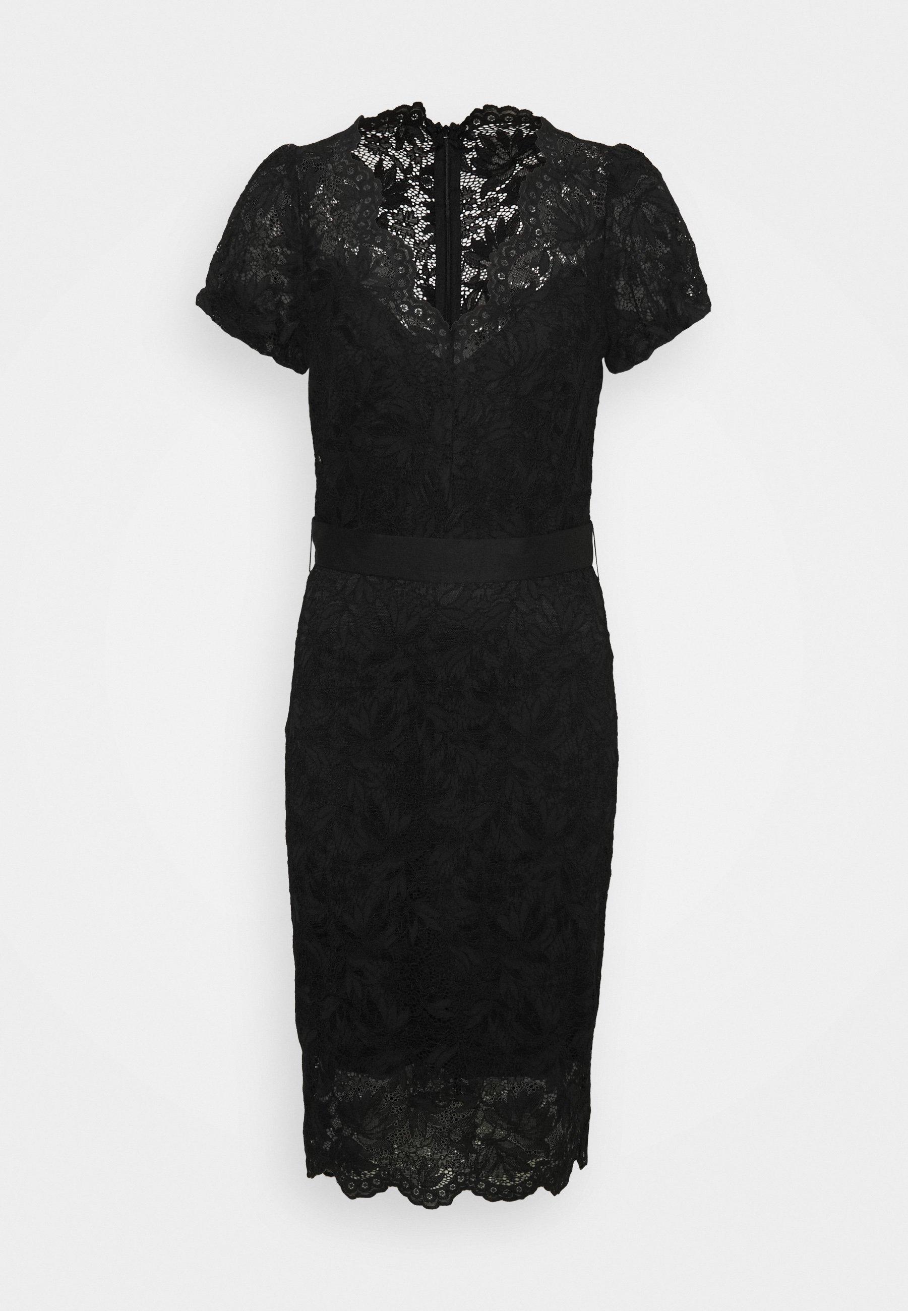 Women AMELIE DRESS - Shift dress - jet black