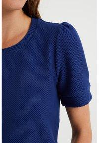 WE Fashion - MET STRUCTUUR - Basic T-shirt - navy blue - 3