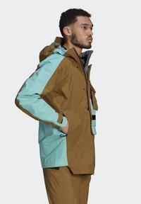 adidas Performance - XPLORIC RAIN JACKET - Hardshell jacket - wild moss/acid mint - 3