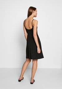 Zign - SPAGHETTI MIDI DRESS - Jerseykjole - black - 2