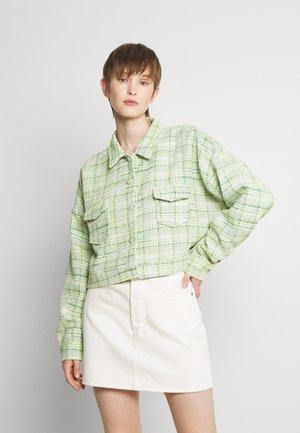 CHECK JACKET - Summer jacket - green