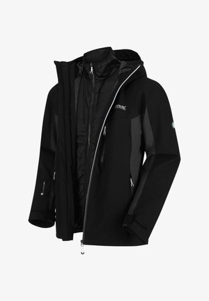 2-IN-1 - Hardshell jacket - black/ash